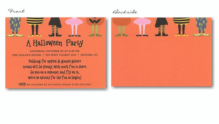 Beautiful Halloween Party Invitations For Kids