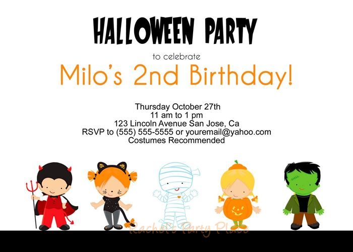 Unique Halloween Party Invitations For Kids