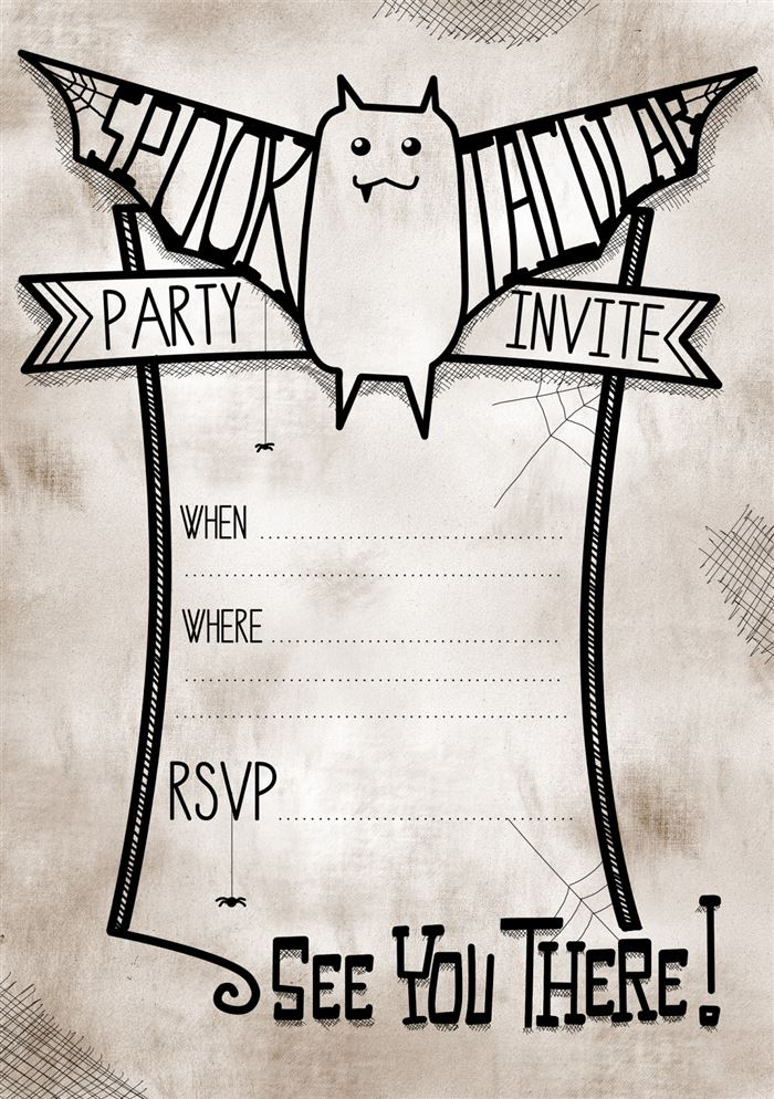 Best Printable Halloween Party Invitations