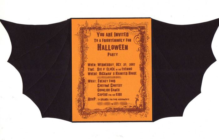 Unique DIY Halloween Party Invitations