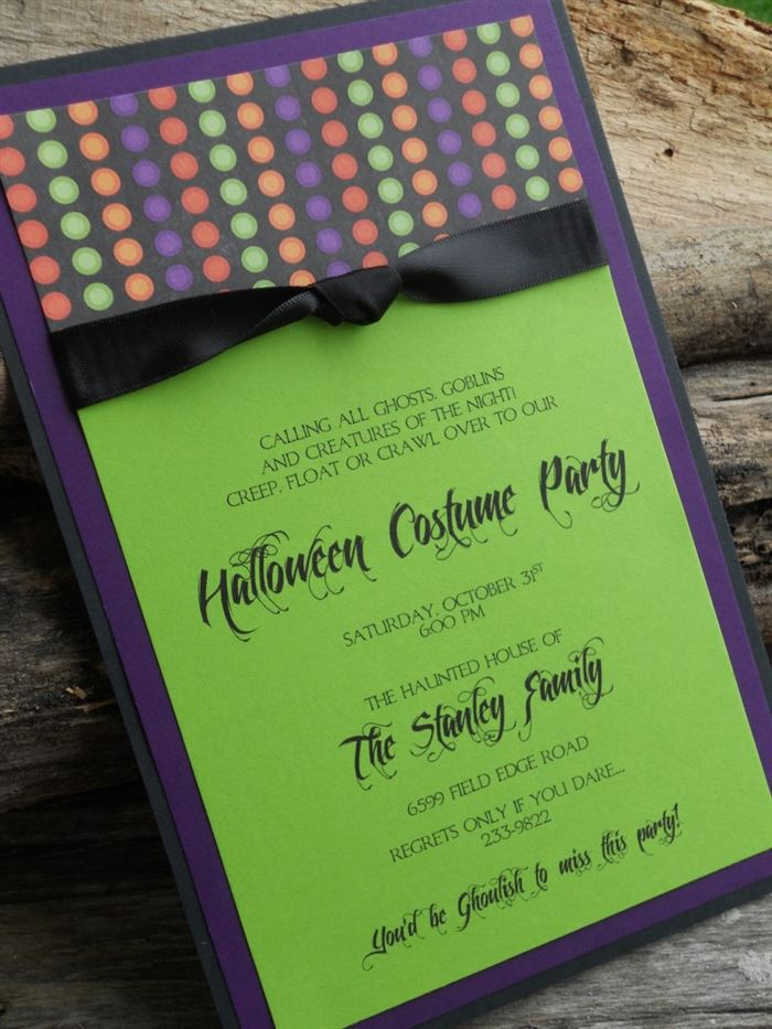 Beautiful DIY Halloween Party Invitations
