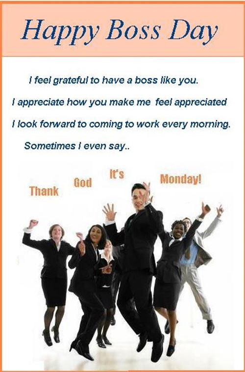 Best Funny Happy Boss's Day Wishes