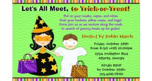 Halloween Invitation Wording For Children