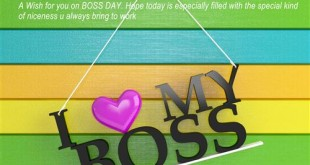 Inspirational Greetings Messages For Happy Boss's Day Card
