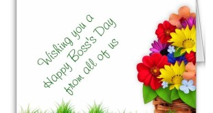 Unique Happy Boss's Day Greeting Cards Messages