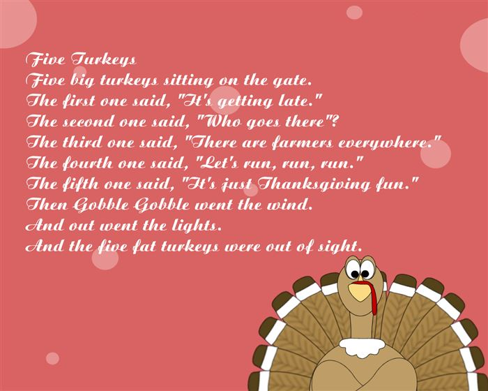 Funny Happy Thanksgiving Poems About The Turkey