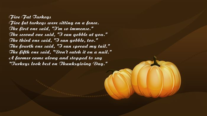 Best Funny Happy Thanksgiving Poems About The Turkey