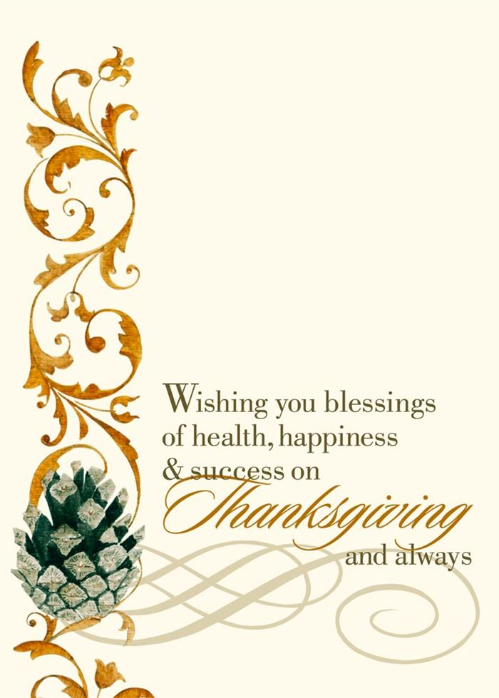 Happy Thanksgiving Greetings Card Messages For Business