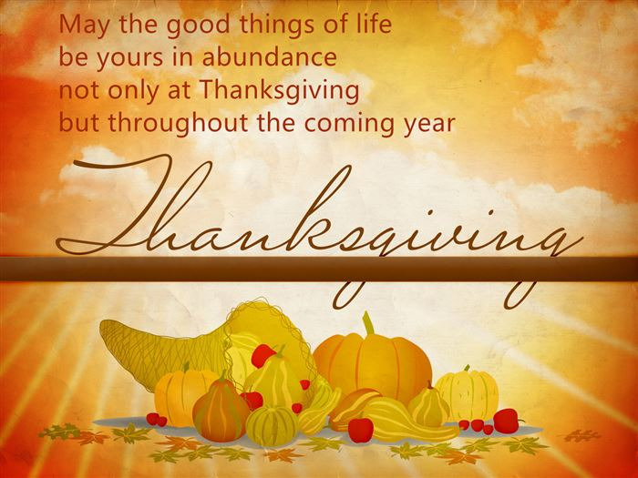 Meaningful Happy Thanksgiving Greetings Card Messages For Business