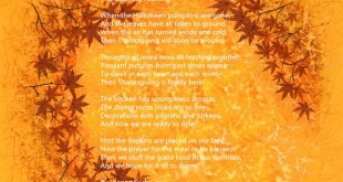 Happy Thanksgiving Poems For Kids To Recite