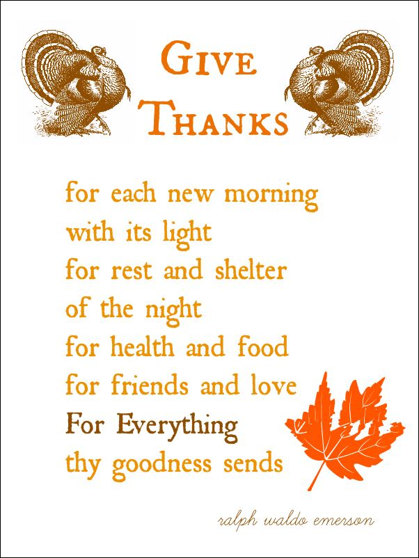 Short Happy Thanksgiving Poems For Preschoolers