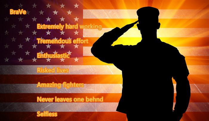 Free Happy Veterans Day Acrostic Poems Examples