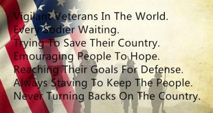 Happy Veterans Day Acrostic Poems Examples