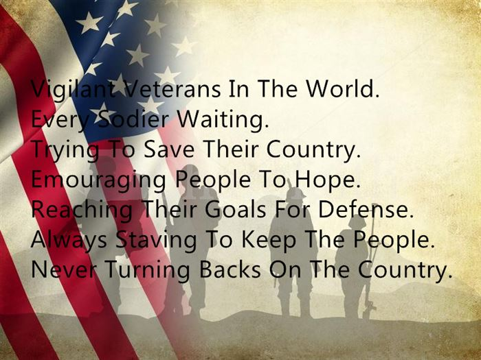 Best Happy Veterans Day Acrostic Poems Examples