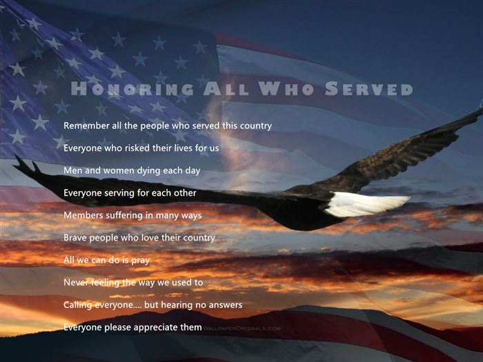 Free Happy Veterans Day Acrostic Poems Template