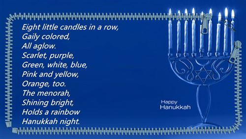 Short Happy Hanukkah Poems For Kindergarten Free