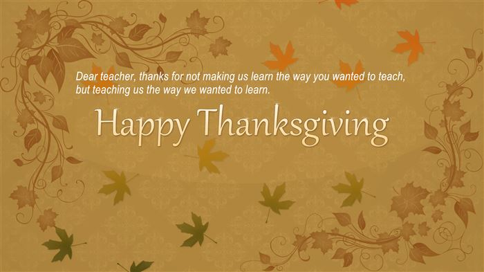 Best Happy Thanksgiving Day Quotes For Teachers