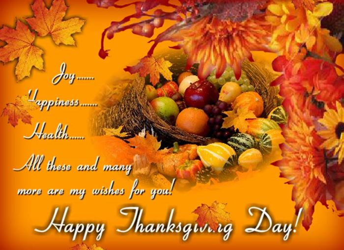 Best Happy Thanksgiving Greetings Cards Messages