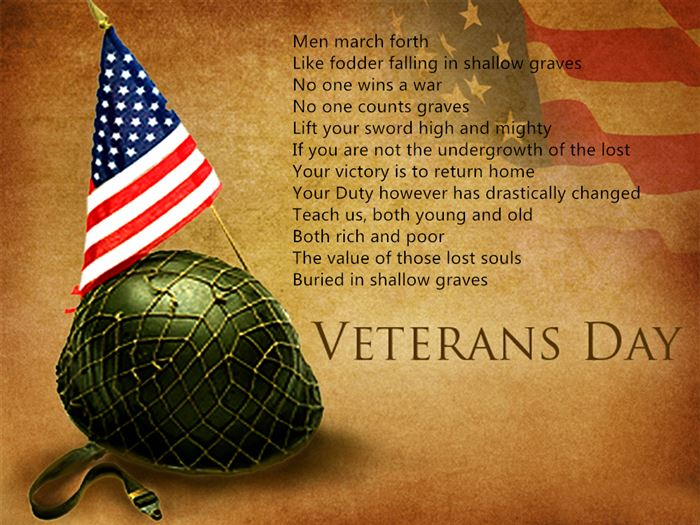Best Free Happy Veterans Day Thank You Poems