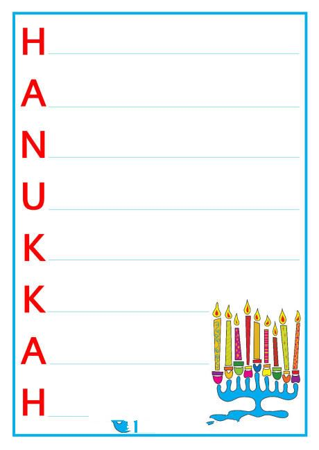 Famous Maccabee Happy Hanukkah Acrostic Poems