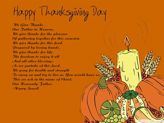 Short Happy Thanksgiving Poems For Church