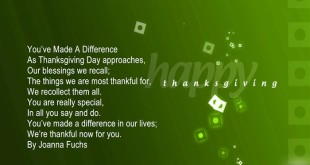 Short Happy Thanksgiving Poems For Family