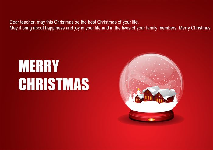Ideal Merry Christmas Greeting Messages For Teachers