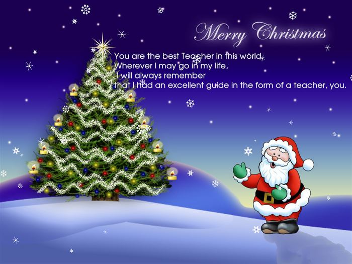 Meaningful Merry Christmas Greeting Messages For Teachers