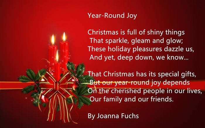 Short Free Merry Christmas Poems For Family
