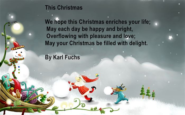 Merry Christmas Poems For Children To Recite