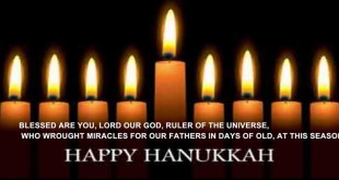 Short Happy Hanukkah Candle Blessing In English