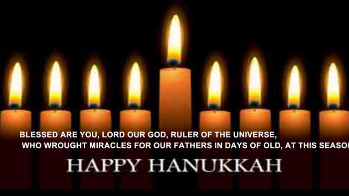 Meaningful Happy Hanukkah Candle Blessing In English