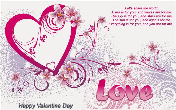 Romantic Happy St Valentines Day Message Images