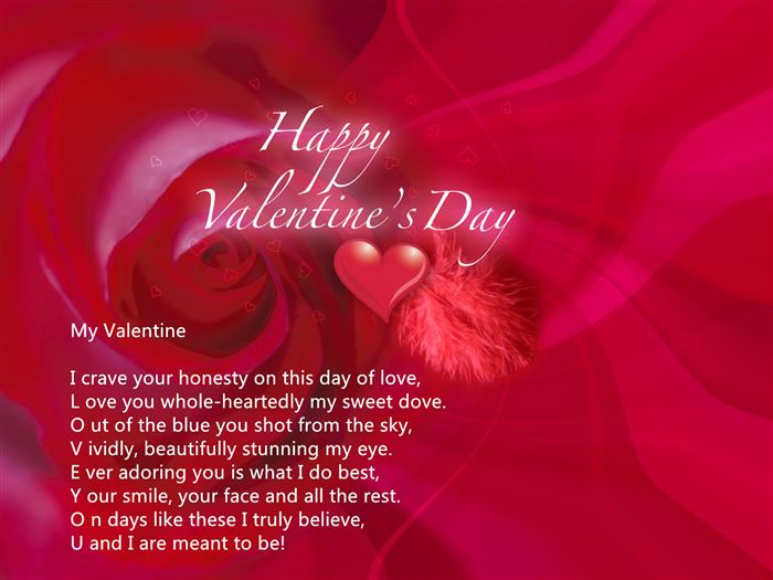 Free Happy Valentine's Day Love Poems For Friends
