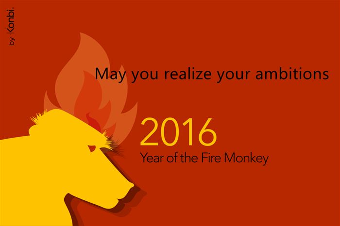 Unique Chinese New Year Wishes Greetings Monkey