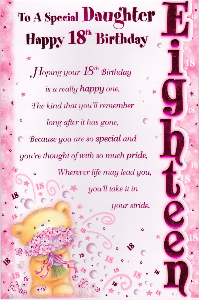 Unique Happy 18th Birthday Messages For Daughter
