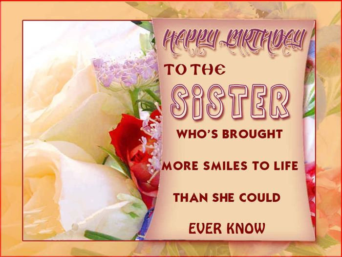 Best Happy Birthday SMS Messages For Sister