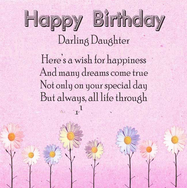 Lovely Happy Birthday Messages For Daughter In Heaven