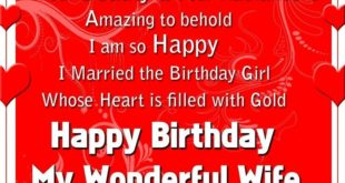 Best Happy Birthday Greetings Message For Wife
