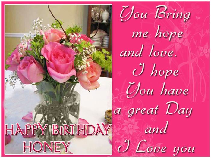 Romantic Happy Birthday Greetings Message For Wife