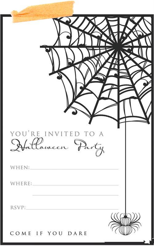 Unique Printable Halloween Invitations Templates