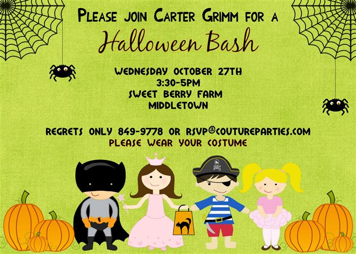 Beautiful Printable Halloween Invitations For Kids