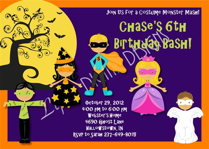 Unique Printable Halloween Invitations For Kids