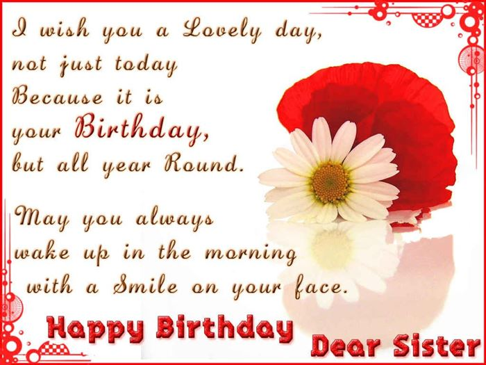 Unique Happy Birthday Greetings Message For Sister