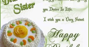Meaningful Happy Birthday Greetings Message For Sister