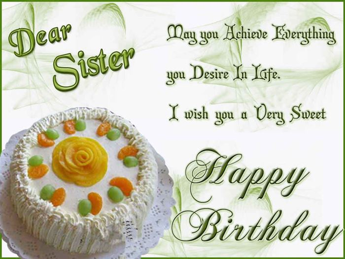 Best Happy Birthday Greetings Message For Sister